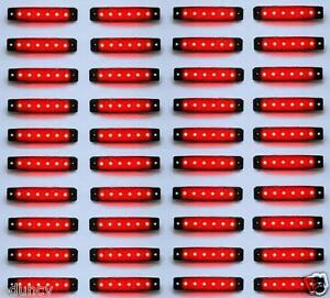 BANDTILE40 Teile rot 24V 6 LED Seite Hinter- Begrenzungsleuchten für IVECO DAF Mann