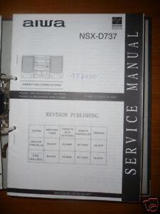 Service Manual Aiwa Nsx-d737 Hifi-system,original Bereitstellung Von Annehmlichkeiten FüR Die Menschen; Das Leben FüR Die BevöLkerung Einfacher Machen Tv, Video & Audio