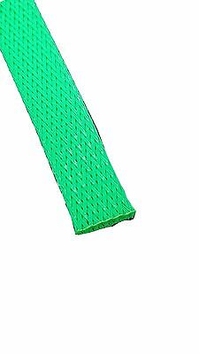 FLEXO PET Expandable Braided Sleeving Wire Cable Sleeve Loom 25 FT NEONGREEN 3//4
