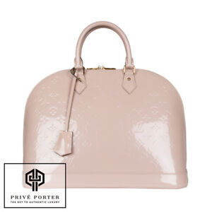 d97e94b2b534 LOUIS VUITTON ALMA MM MONOGRAM VERNIS PATENT LEATHER ANGEL ROSE PINK ...