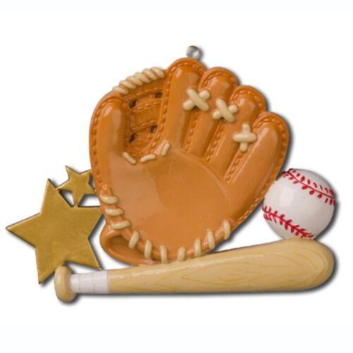 Baseball Glove Personalized Christmas Tree Ornament X-mass NEW