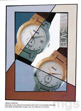 Versace watch print ad 2000