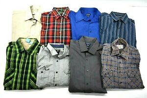 Wholesale-Bulk-Men-039-s-Medium-Various-Brands-Long-Sleeve-Button-Up-Shirts-Lot-of-8