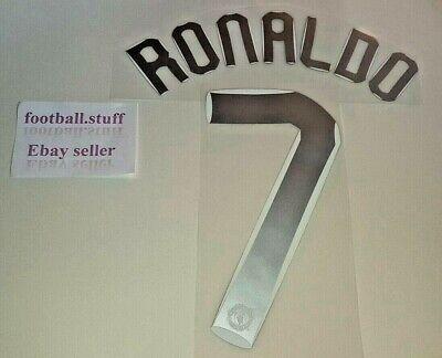 MANCHESTER UNITED RONALDO #7 1997-2006 PLAYER SIZE PREMIER LEAGUE VELVET PRINT