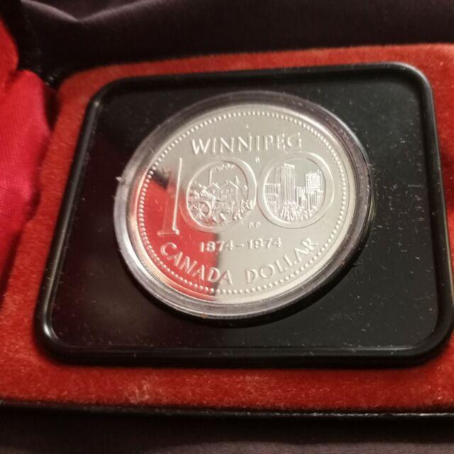 1974 Canada Silver Dollar 100th Anniversary of Winnipeg 500silver Commemorative
