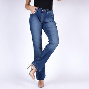 Levi-039-s-515-Bootcut-Blau-Damen-Jeans-28-32