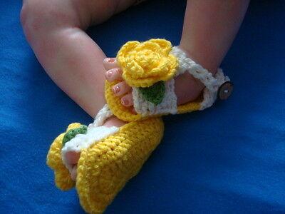 Cordiale Hand Crochet Rinato Baby Dolls Sandali, Scarpe-mostra Il Titolo Originale