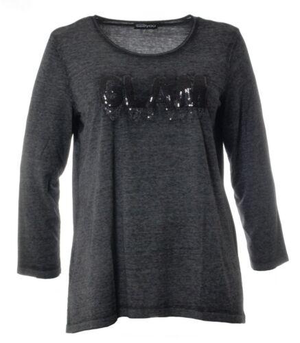 longtemps femme plus paillettes Pull usagé Sweat aspect à coton très chaud arrière en Onaqdwx6