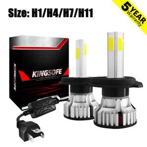 4-Side-360-H1-H4-H11-H7-LED-Headlight-KIT-48000LM-Canbus-Error-free-6500K-White