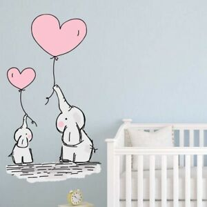 Details about Baby Elephant Balloons Wall Stickers Nursery Decals Kids  Bedroom Wall Art Babies