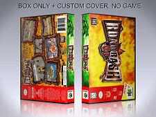 ROAD RASH 64. ENGLISH. Box/Case. Nintendo 64. BOX + COVER. (NO GAME).