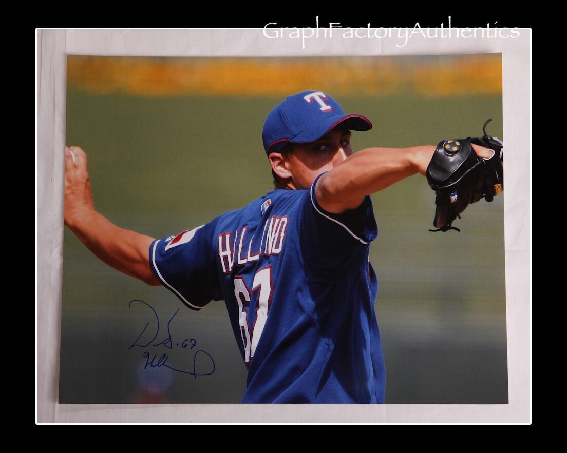 Derek Holland Holland Holland Texas Rangers Firmado 16x20 Foto Coa GFA 25e656