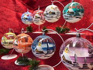 Christbaumkugel L Glas Weihnachtskugel Glaskugel Handarbeit Lauscha Glasschmuck
