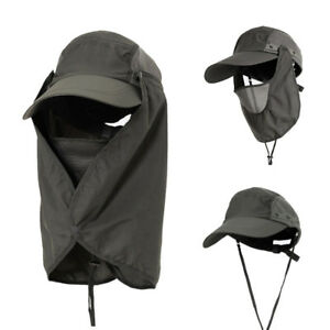 c9682c31eed8b Mens Womens Hiking Fishing Hat Sun Protection Neck Face Flap Cover ...