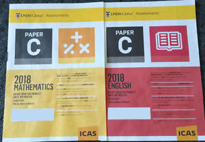 ICAS Past papers Year 5 (Paper C) all subjects English Math Science inc 2018