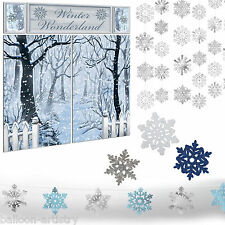 Christmas Party Snowy Winter Wonderland Snowflake Decoration Kit Set Pack