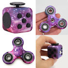 Fidget Violet Galaxie Space Cube + Hand Spinner Finger Focus EDC Anti-Stress Toy