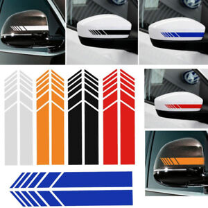2pcs Auto Vinyl Racing Stripe Rearview Mirror Car Window Graphics