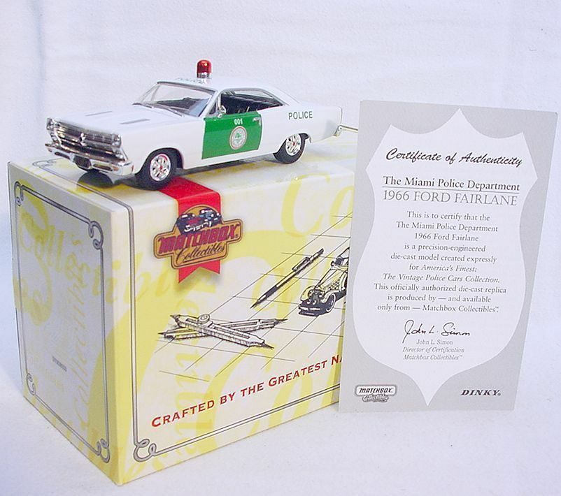 Matchbox Collectibles 1 43 FORD FAIRLANE 1966 Miami Police Dept Car DYM38020 MIB