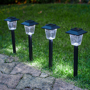 Beleuchtung Gartenweg | 4er Set Led Solarleuchte Weg Beleuchtung Gartenweg Laterne Erdspiess