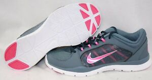 e5ffcf2d1ea0 NEW Womens NIKE Flex Trainer 4 643083 404 Grey Pink Sneakers Shoes ...