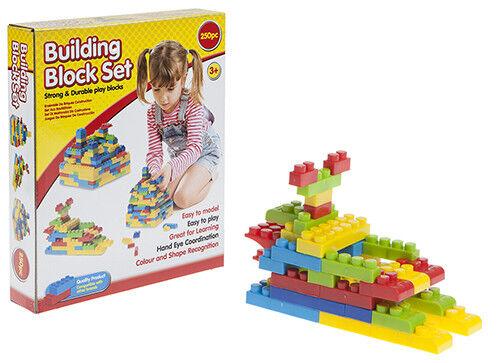 NEW 250 PIECE ASSORTED BUILDING BLOCKS BRICKS CONSTRUCTION KIDS BUILD TOY
