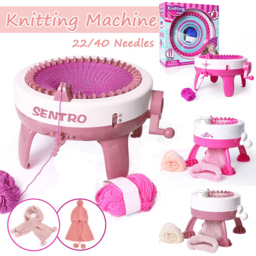 22//40 Needle Hand Knitting Machine Weaving Loom for Scraf Hat Kids Learning