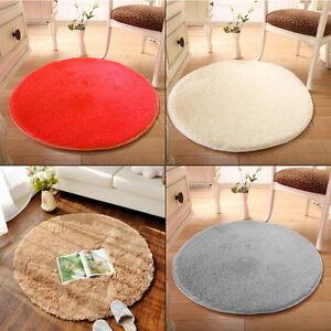 Image Is Loading 100cm Circular Circles Non Slip Machine Washable Floor