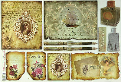 Rice paper for Decoupage Scrapbooking Sheet Craft Love Letter