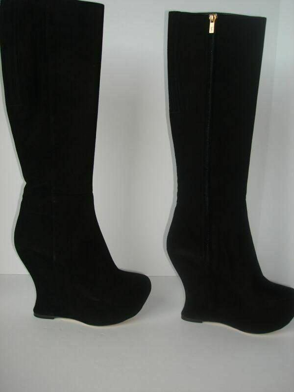 NIB Auth YSL Yves Saint Laurent Studio 75 Platform Black Boots Shoes 8 us 38 eu
