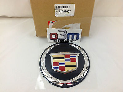 Cadillac Escalade Rear Lift Gate Crest & Wreath Medallion EMBLEM new OEM