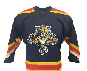 Florida-Panthers-NHL-Youth-Navy-Blue-CCM-Team-Hockey-Jersey-nwt