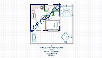 229sqft 14 X16 1bedrm1bath Tiny House Design Us Metric Ala Cart Ebay