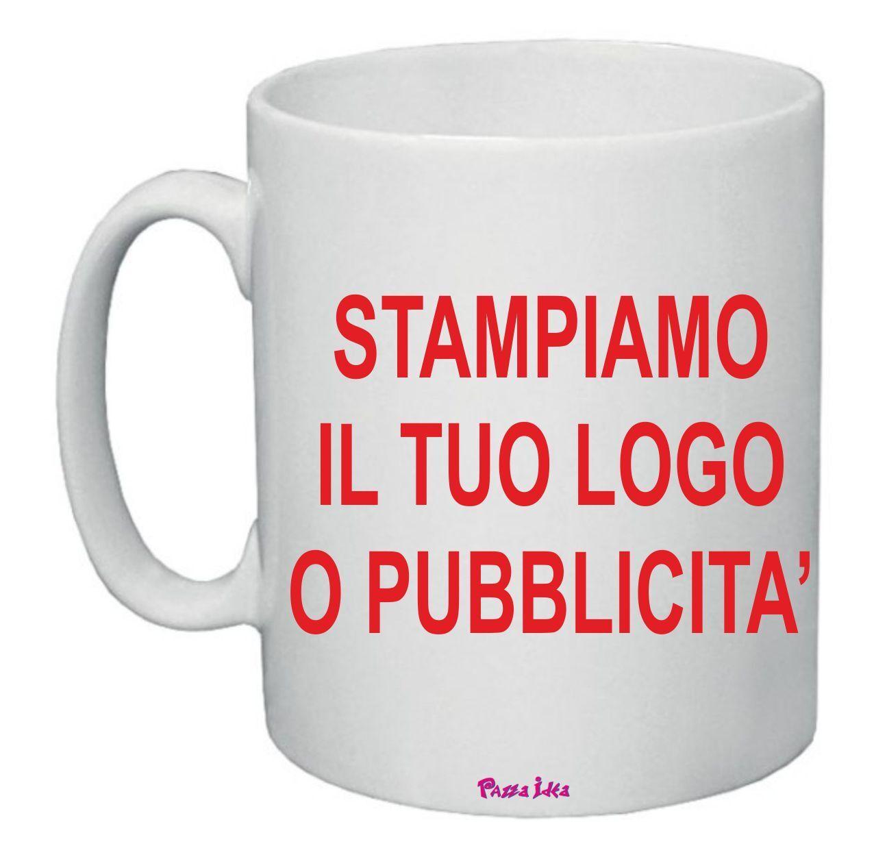 12 tazze tazza 8 x 10 cm  personalizzate tuo logo disegno regalo gadget azienda