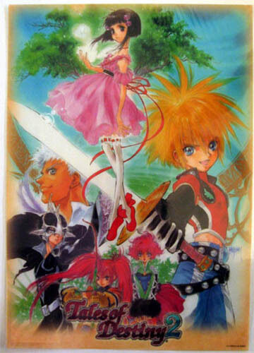 Tales of Destiny 2 Poster Plastic Anime MINT