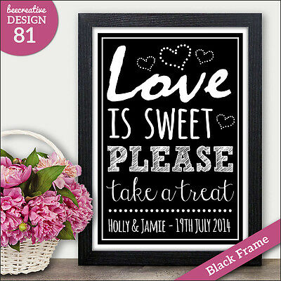 LOVE IS SWEET CANDY BAR Chalkboard Wedding Sign Candy Buffet Sweets Table Sign