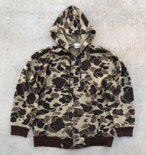 Vintage Camouflage Camo Zip Up Hoodie Hoodie vtg U