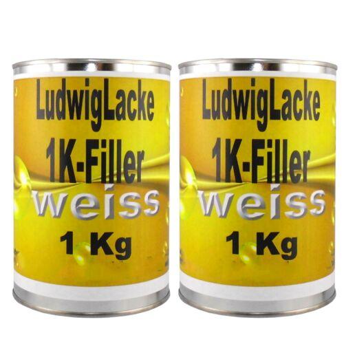 1K Filler 2x 1 kg WEISS   Spritzfüller für Autolack Lackierer Werkstatt FreiHaus