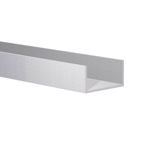 "Fits 1-3//8/"" Clear Ano 3 Foot 1-1//2/"" W x 3//4/"" H x 1//16 Wall Aluminum Channel:"