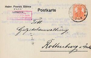 Postkarte-Jahr-1917-verschickt-von-Ludwigsburg-nach-Rottenburg-sehr-interessant