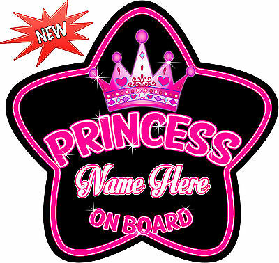 Black /& Pink Princess Child Baby on Board Car sign