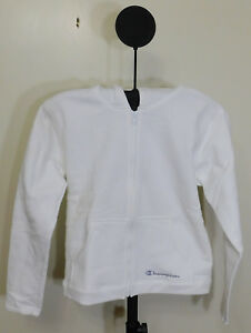 8a174a1a Champion Boy's White Zipper Hoodie Sweat Shirt Jacket - Size Medium ...
