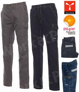 Pantaloni da Lavoro Estivi Payper Worker Summer Uomo Donna 100% Cotone LEGGERI