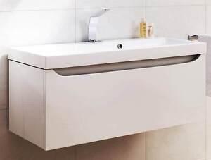 Waschbecken-Unterschrank-VERO-80-cm-weiss-lackiert-Set-Badmoebel-Kueche-Office