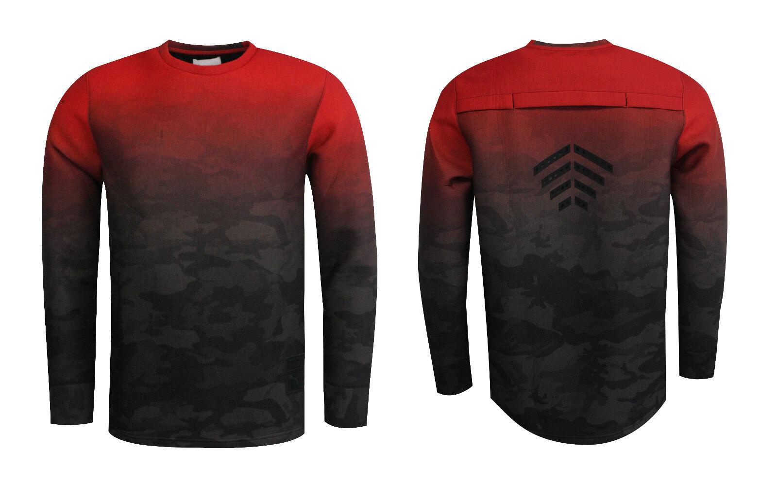 Puma Trapstar Sweatshirt Herren Pullover Oberteil Rot Tarnung keine Tags 571818