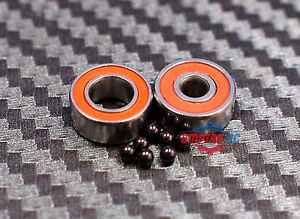440c CERAMIC Stainless Steel Bearing SMR106-2RS 5 PCS 6x10x3 mm ABEC7 Orange