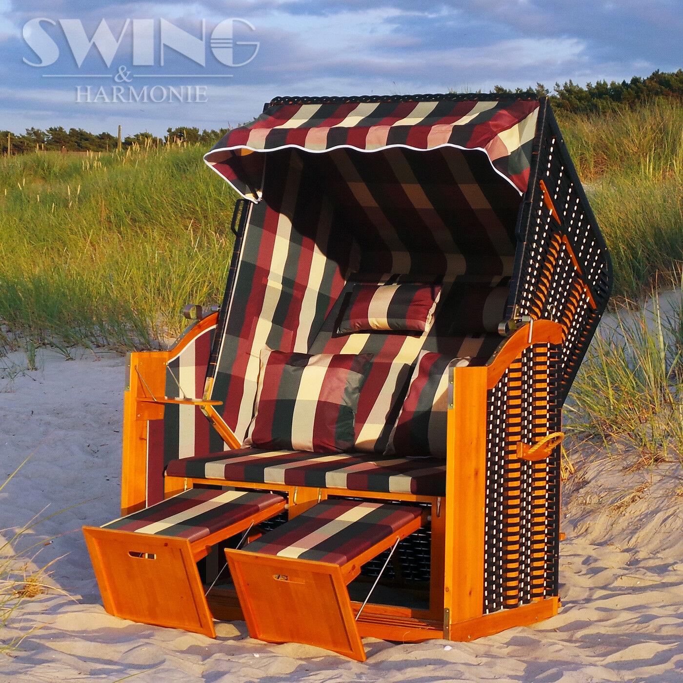 Jugara de lujo cesta XXL Mar Báltico volllieger tumbona rojoonda de ratán con parasol muebles tumbona de jardín