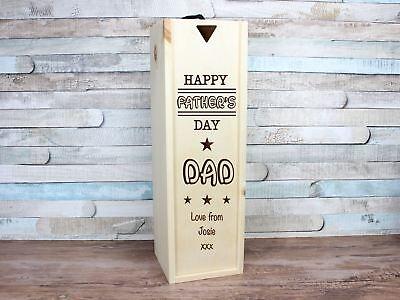Intenzionale Personalizzato Inciso Padre's Giorno Vino Regalo Quarter Mini Bottiglia Papà Grandad- Adatto Per Uomini, Donne E Bambini