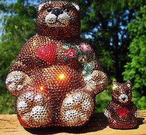 Kathrine Baumann TEDDY BEAR swarovski CRYSTAL PURSE PILL ...