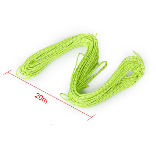 20m Camping Tent Rope Canopy Guyline Awning Cord Tarp Paracord for Outdoors